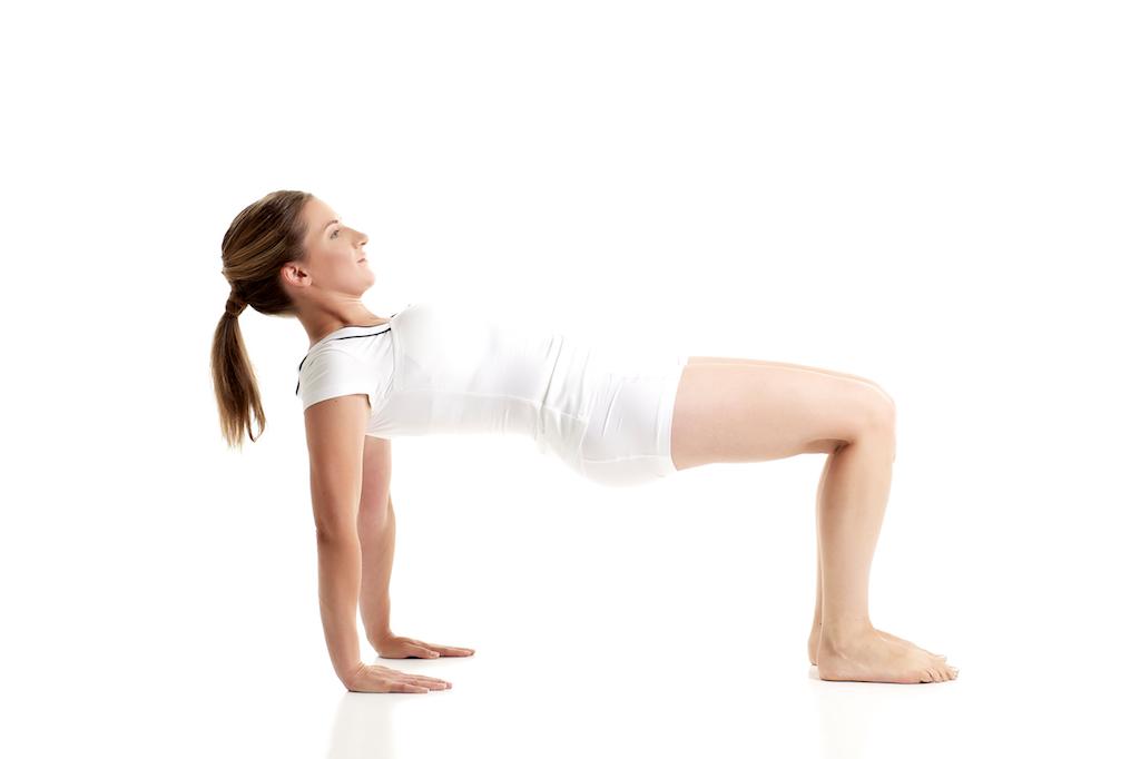 Pilates Reverse Shoulder Bridge