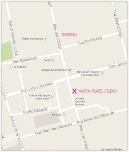 Antra Pilates studio map